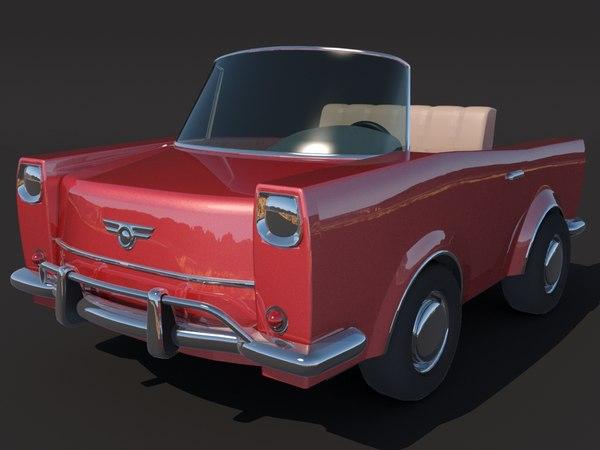 convertible toy car 3D model