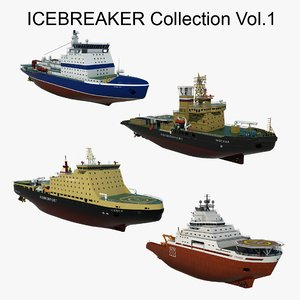 icebreakers ship 3D model