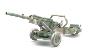 3D cannon weapon weaponry model