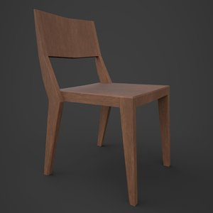 3d stackable chair wood