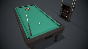 3D pbr billiard table