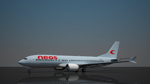 neos 737 8 airlines 3D model