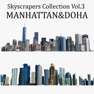 3D skyscrapers 3