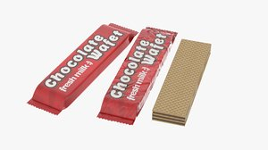 3D chocolate wafer bar