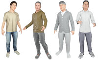real cloths difference animation model