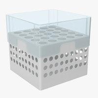 3D model eppendorf storage box 5 inch