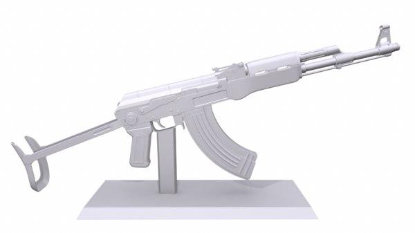 print ak47 folding stock model