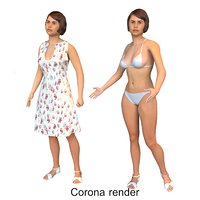 3D model real cloths animation
