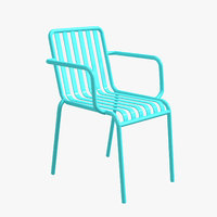 3D metal chair armchair
