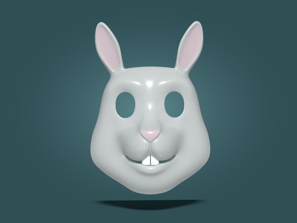 3D rabbit kids mask model