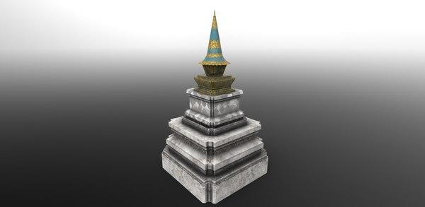 asian spire 3D