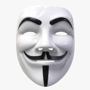 3D fawkes vendetta anonymous mask