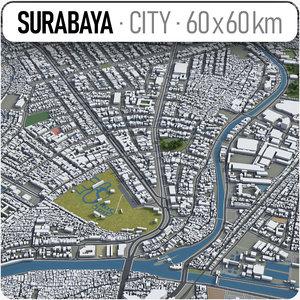 surabaya surrounding - 3D model