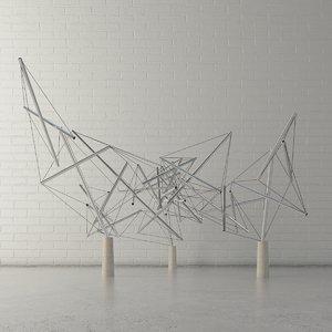 public sculpture 3D model