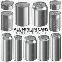 aluminium cans 01 - 3D model