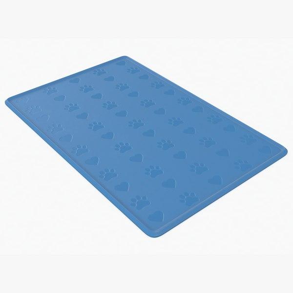 dog silicone mat 3D