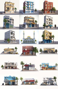 arab city pack 9 3D model