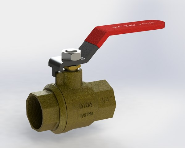 ball valve 3D model