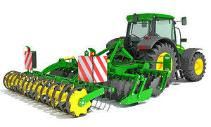 tractor seed drill 3D model