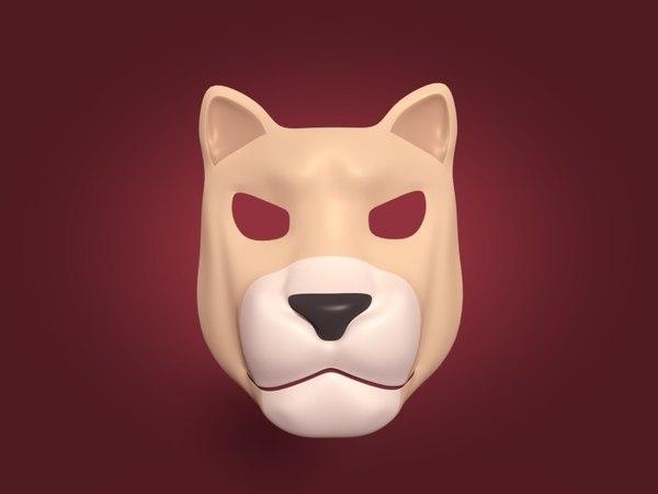 3D tiger mask