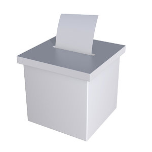 blank election box ballot 3D