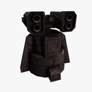 3D missile turret