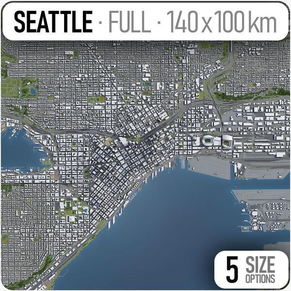 seattle city area 3D model