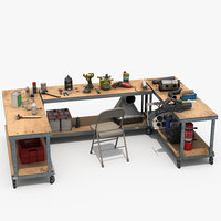 Workbenches with tools