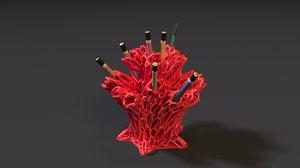 3D printing organizer coral