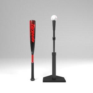 batter baseball bat 3D
