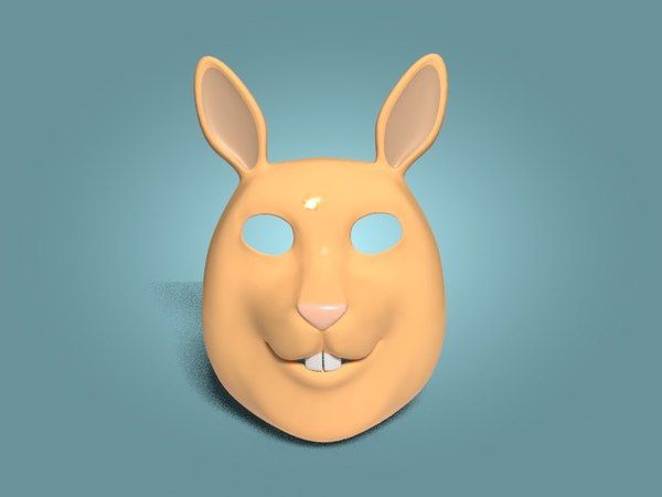 rabbit mask 3D model