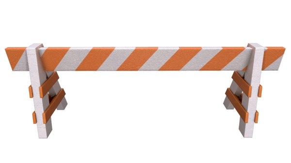 wooden barricade 3D