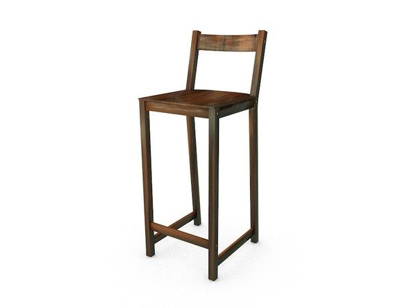 3D stool wood