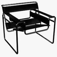 3D wassily chair marcel breuer