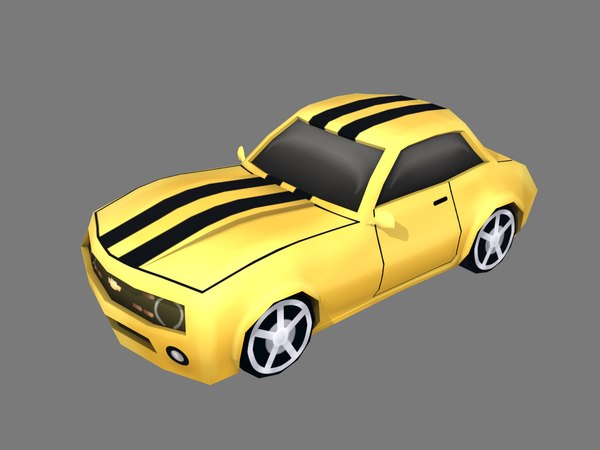 3D model cartoon mustang car
