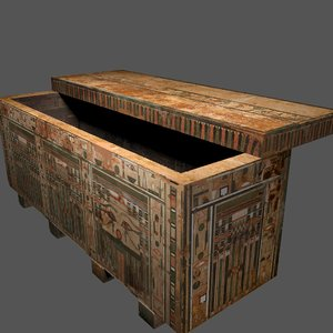 egyptian coffin 3D