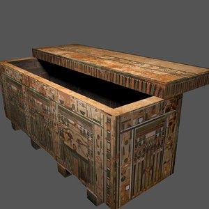egyptian coffin 3D