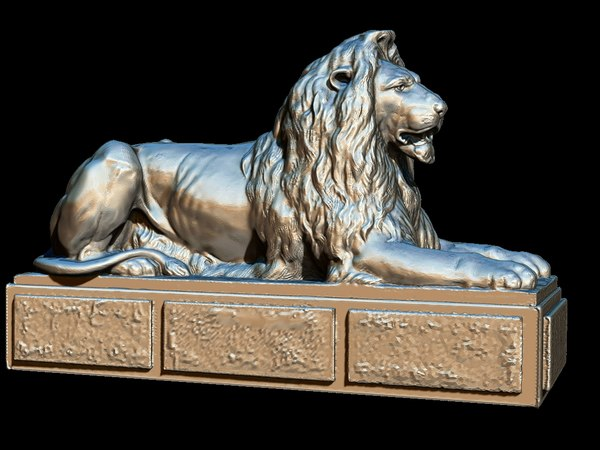 square london lion statues 3D