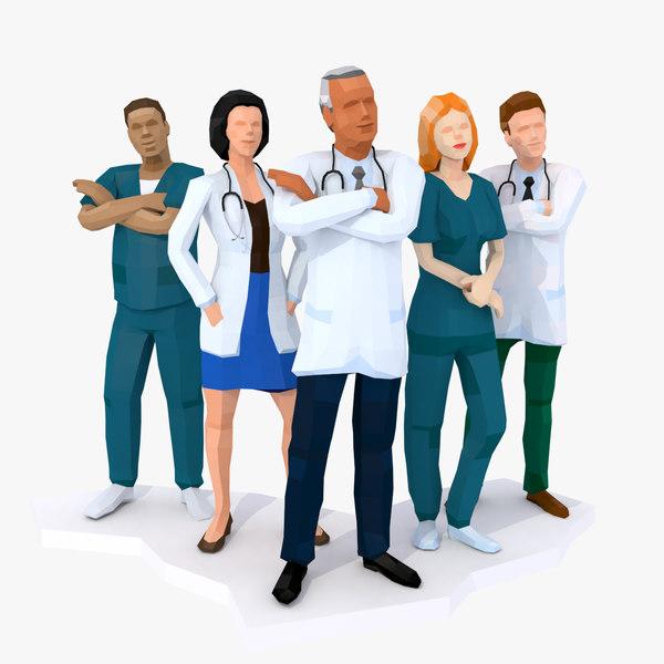 doctors characters 3D model