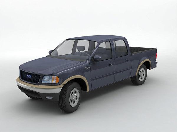 3D f-150 super crew pickup truck