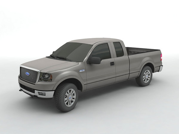 f-150 super crew pickup truck 3D