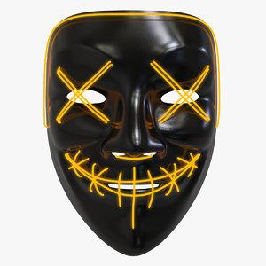 3D purge mask model