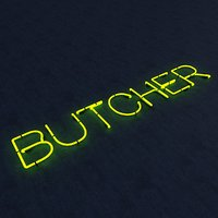 butcher neon sign 3D model