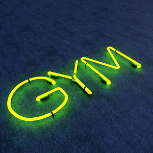 3D gym neon sign