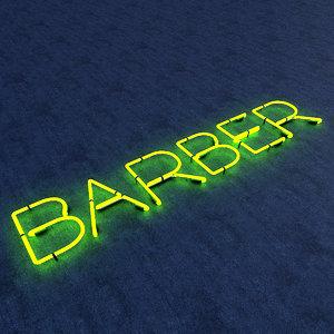 barber neon sign 3D