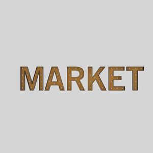 3D market sign bulb