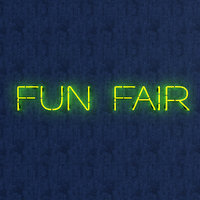 3D funfair neon sign model