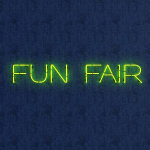 3D funfair neon sign model