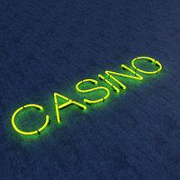 3D casino neon sign