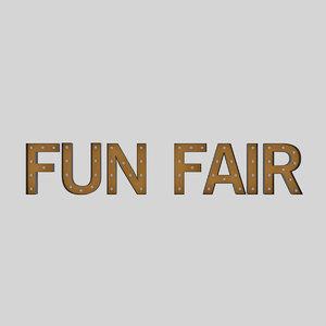 funfair sign bulb 3D